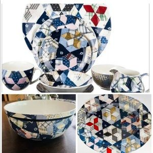 RALPH LAUREN WEDGEWOOD PATCHWORK SERVING BOWL
